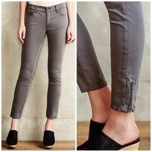 ANTHROPOLOGIE Pilcro Serif Moto Ankle Zip Jeans